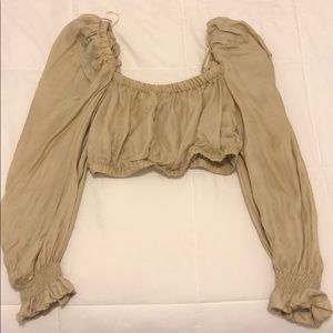 Zara Puff Sleeve Crop Top
